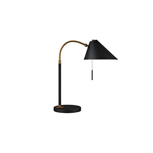 lampara de lectura Simple estadounidense lámpara de mesa industrial Estilo Negro con la extracción del interruptor giratorio de metal lámpara de escritorio de la sala de estar y dormitorio Para Lámpar