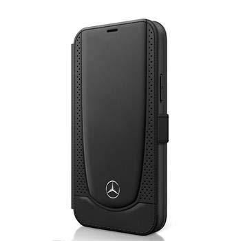 mercedes benz Funda Tipo Libro con Tarjetero Compatible iPhone 12 Mini Piel Negro