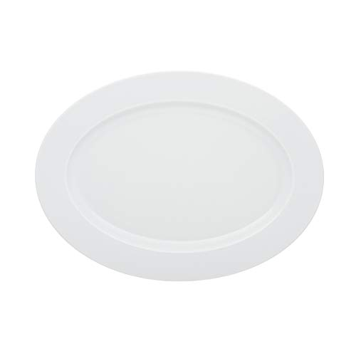 DEGRENNE 227837 Collection L Plat ovale 36,5x26,5 cm, Blanc