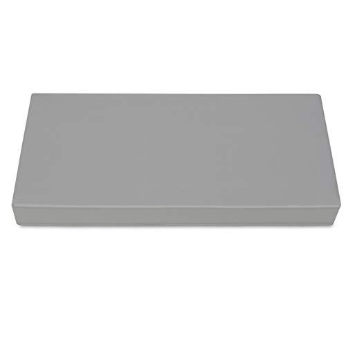 SuperKissen24 Cojín Colchón para Palet Sofá Banco 80x40 cm Asiento Cómodo e Impermeable para Muebles Terazza Exterior - Grigio