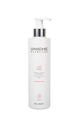 LISS REPAIR - Maschera Lisciante alla Cheratina con tecnologia filler per le parti danneggiate, ideale per capelli secchi, sfibrati e crespi - UNICHE HAIR CARE