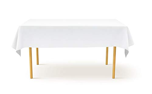 TexDeko Tischdecke in Weiß waschbar und wiederverwendbar (130x170cm) knitterarm aus 100% Polyester