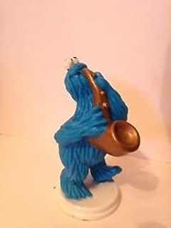 Wilton Sesame Street Cookie Monster Figure W Saxophone PVC 2.75