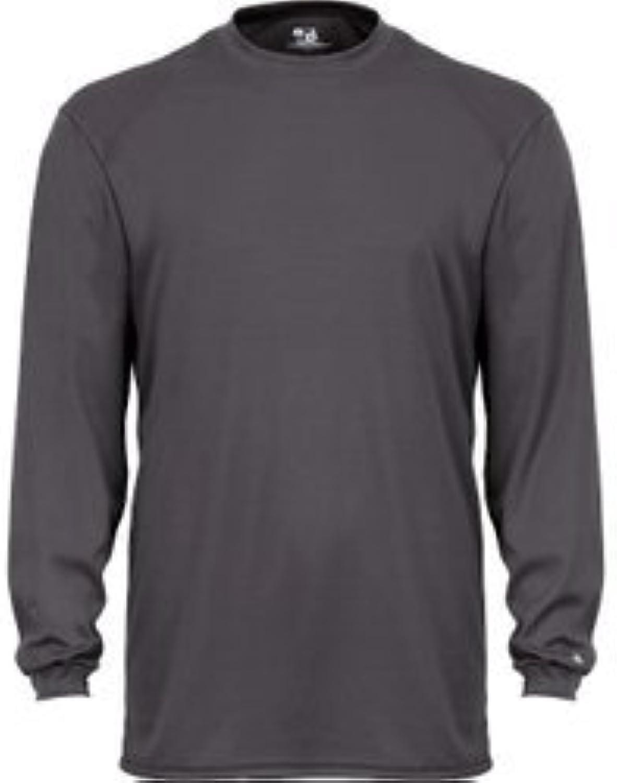 Badger Sportswear BCore Long Sleeve TShirt, 2XL, Red
