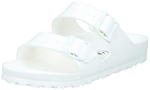 Birkenstock Arizona EVA Unisex-Erwachsene Pantoletten, Weiß (White 43), 44 EU