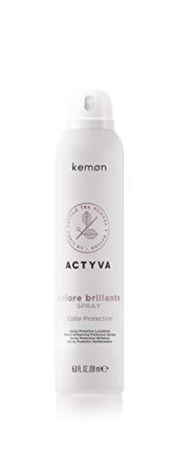 Kemon Actyva Colore Brillante Spray - Pflege-Spray zum Schutz des Haares, exklusive Haar-Pflege für coloriertes, mattes oder stumpfes Haar, 200 ml