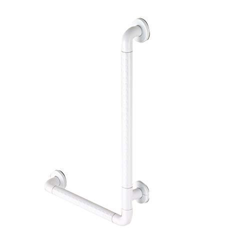 Handläufe Haltegriff Anti-Rutsch Composite Edelstahl Badezimmer L-förmige Geländer Wc Dusche WC Bad Senioren (weiß, 3 Größen) (größe : 40 * 60CM)