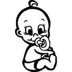 Personalisierbarer Babyaufkleber mit eigenem Wunschtext & Name selbst gestalten - Farbe, Motiv, Schriftart, Größe wählbar - Baby an Bord Aufkleber fürs Auto, Lack, Heckscheibe, Autofenster, wetterfest, lange Lebensdauer, einfache Montage - Autoaufkleber 715 (anpassbar)