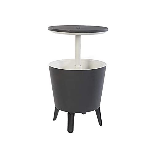 XODO STORE Tavolino Portaghiaccio KETER in Resina con Piano rialzabile Cool Bar, Colore Grigio