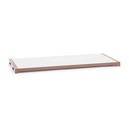 Tojo Schreib Deckel für Schreibtisch, weiß LxBxH 76x32x3cm