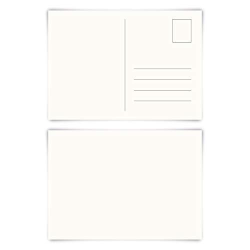 Blanco ansichtkaarten in formaat DIN A6. 25er Set Natuurlijk papier.
