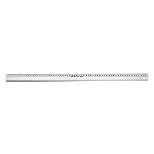 LINEX Super Series Aluminium-Lineal mit Rutschbremse, Zeichenkante und Schneidekante, 60 cm lang