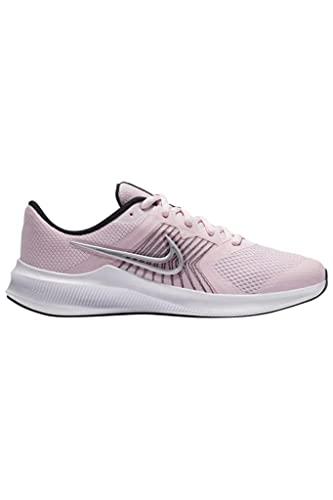 Nike Downshifter 11 Walking-Schuh, Pink Foam/Metallic Silver-Bla Weit, XX-Large EU