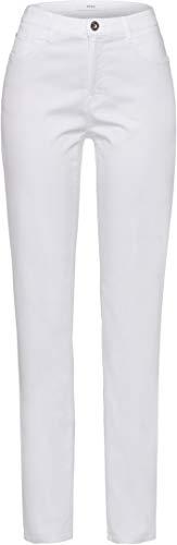 BRAX Style Carola Smart Cotton Pantaloni, Bianco (White 99), W32/L30 Donna