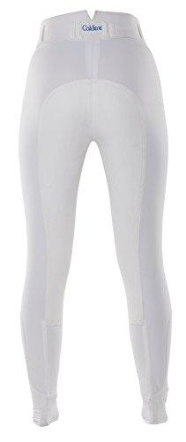 Caldene CompetitionHartpury –Pantaloni da Donna a Vita Alta, Full Seat, da Cavallerizza, Donna, Hartpury High Waist Full Seat Regular, White, 24 Pollici