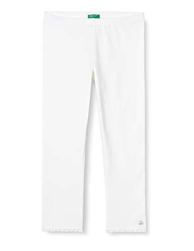United Colors of Benetton 3MT1I0820 Leggings, Bianco (Bianco 101), 116 (Taglia Produttore:S) Bambina