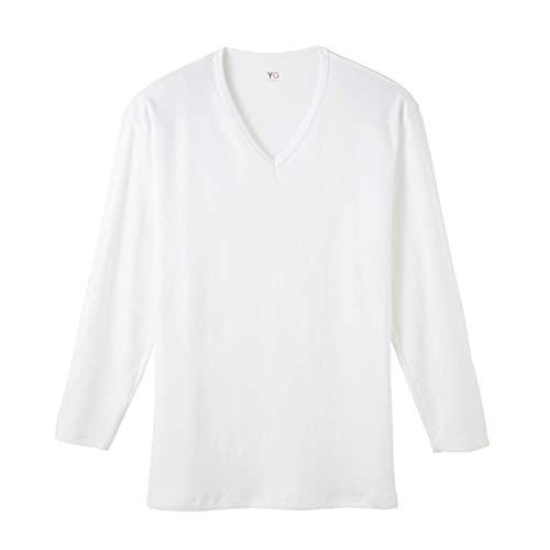 [グンゼ] インナーシャツ YG Cotton 100% シリーズ ダブルホット Vネック9分袖 メンズ ホワイト(NEWモデル)...