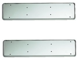 Streetwize Urban X - Chrome Metal Number Plate Holder - Pair