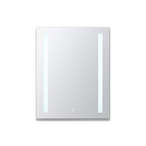 AQUADOM Royal Basic, LED Medicine Cabinet, Touch Screen Button, Dimmer (24in x 30in x 5in Left Hinge)