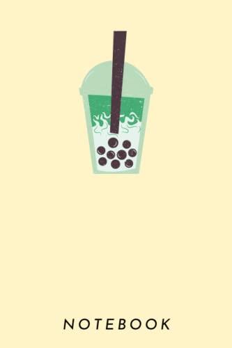 Notebook: Matcha latte blank lined journal