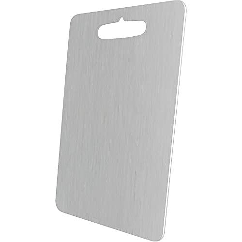 304 acero inoxidable tabla de cortar tabla de cortar tabla de rodar fruta tabla de cortar amasar masa herramientas de cocina (plata, 450x350)
