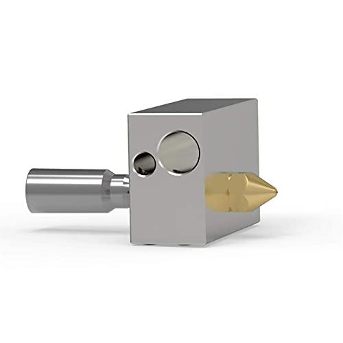 Hochwertiges Druckerzubehör 0,4 mm Messingdüsendruckkopfheizung Blockteile Geeignet für Zortrax M200 3D-Drucker 3D-Druckzubehör