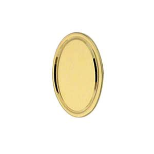 Pince à cravate 12x8mm en Or Jaune 9ct - 375/1000 de forme ovale avec ligne tournée