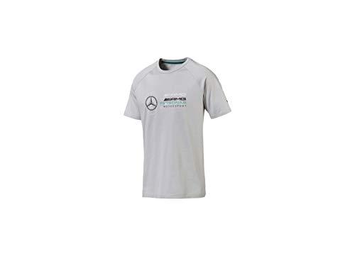 MERCEDES AMG PETRONAS Herren Mercedes Amg Logo Tee, L T-Shirt, Grau (Gray Gray), Large (Herstellergröße: L)