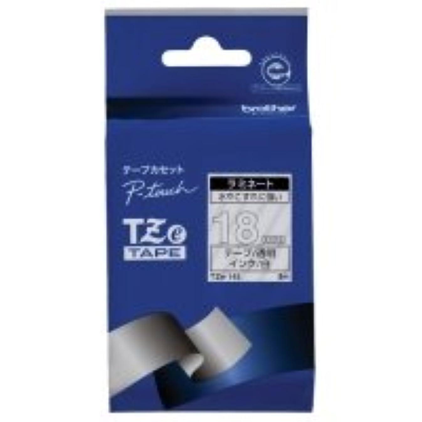 時代遅れメッセンジャー眉ブラザー ピータッチ TZeテープ ラミネートテープ 18mm 透明/白文字 1個