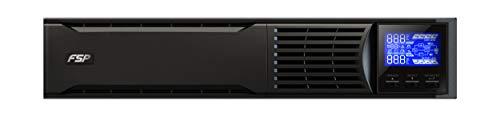 FSP Fortron Custos 9X 2K Rack Mount/Tower Dual Design, Online-USV, 2000 VA/ 1800W, bis 300VAC, Hot- Swap Batteriewechsel, Programmierbare Steckdosen mit USB, RS-232 und intelligenten Steckplatz