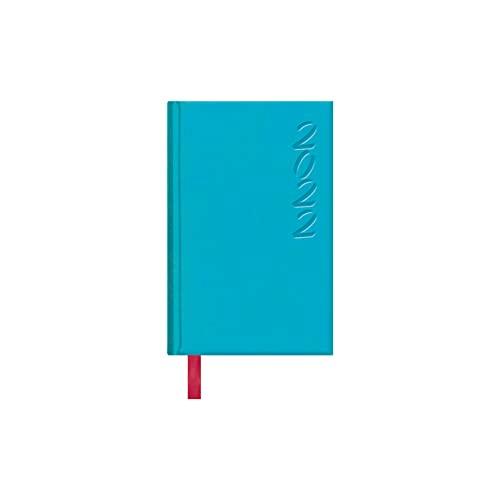 Dohe Agenda Brasilia de Bolsillo - Agenda Anual en Formato Semana Vista - Medidas 8,5 x 13 cm - 128 páginas - Color Azul Turquesa - Tamaño de Bolsillo