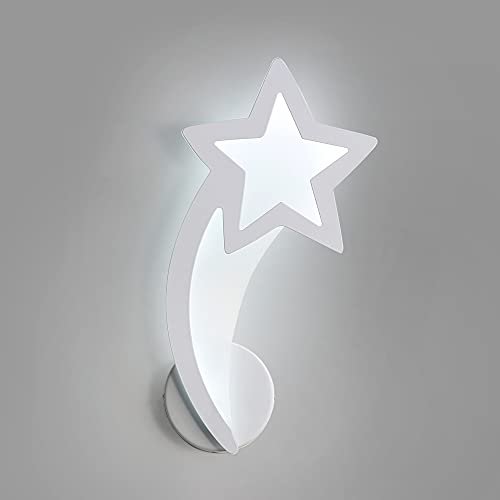 Goeco Lámpara de pared LED, Aplique de pared meteor interior 10W, Lámpara de pared de acrílico para pasillo, blanco 6000K Luz blanca fría
