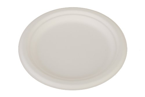 Southern Champion Tray 18120 7' ChampWare Round Molded Fiber White Heavy Weight Pulp Plate (Case of 1000)