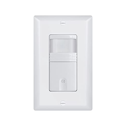 White 3-Way Motion Sensor Light Switch (Not Single Pole) – NEUTRAL Wire Required – For Indoor Use – Vacancy & Occupancy Modes – Title 24, UL Certified – Adjustable Timer