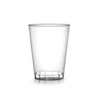 Paquete de 60 vasos de plástico transparentes para fiestas, 200 ml