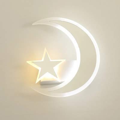 Applique murale lampe de chambre à coucher LED avec lit moderne acrylique simple chambre d'enfants lumières chaude étoile lumière lune lumière blanche lumière