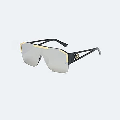 MYJOYSUE Gafas de Sol para Hombres y Mujeres Montura Semi sin Montura Gafas de Sol de conducción Bloqueo de Rayos UV