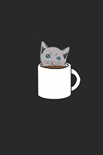 Kaffee Tasting Buch: Dein persönliches Verkostungsbuch zum selber ausfüllen ♦ für über 100 verschiedene Kaffeesorten ♦ Egal ob aus europäischen, ... 6x9 Format ♦ Motiv: Katze im Kaffee