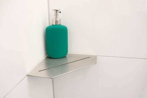 BAUHANDEL24 - Duschablage ohne Bohren, Duschkorb aus Edelstahl, Eckablage für das Bad, Badregal in der Dusche, Duschregal