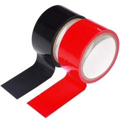 No Stick Static Tapes,No Glue Electrostatic Adsorption No Hair Pulling or Sticky Residue (Black Red)