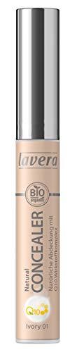 lavera Natural Concealer Q10 -Ivory 01- Natürliche Abdeckung ∙ Hautpflegend ∙ Vegan Naturkosmetik Natural Make-up Bio Pflanzenwirkstoffe 100% natürlich (1x 5.5 ml)