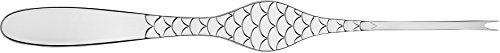 "Alessi""Colombina fish"" Shellfish Forks in 18/10 Stainless Steel Mirror Polished (Set of 6), Silver"