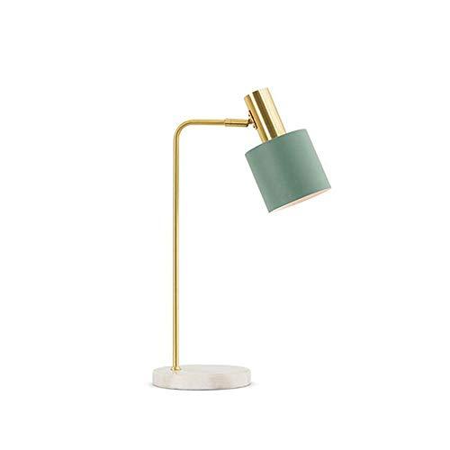 Marmor Tischlampe, LED-Nachttischlampe Einfache, Lernen Zu Lesen LED Tischleuchte, Geeignet Für Nacht Study/Schlafzimmer/Wohnzimmer, 54X18cm,Grün