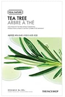 [20pcs] THE FACE SHOP Real Nature Mask Sheet (TEA TREE) / ザフェイスショップ リアルネイチャーマスクシート [並行輸入品]