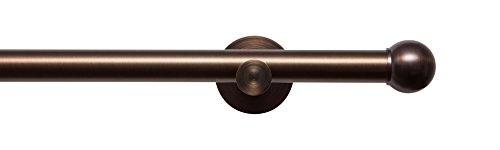 Tilldekor Gardinenstange HIGH-LINE FORMENTOR, braun-antik, Ø 20 mm,1-Lauf, 160 cm, inkl. Trägern und Endstücken