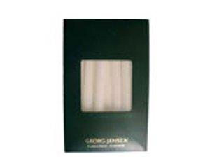 George Jensen Accessories - Candele antigoccia, Cera bianca, 16 x 11 x 4.6 cm