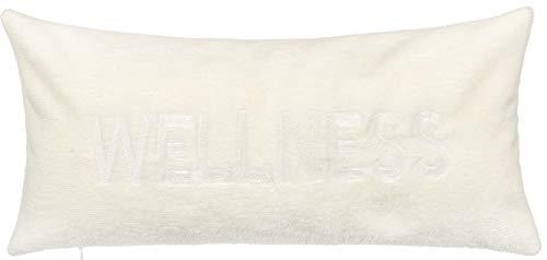 Brandsseller Badewannenkissen mit Saugnäpfen und Reißverschluss Wannenkissen aus weicher Microfaser - stützt Kopf und Nacken - Farbe: Weiß