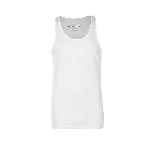 883 Police NOTO Script Vest | White Small
