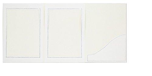 WEBAFI 25 Stück weiße Leporellos Foto Portraitmappe Verkaufsmappen mit Silberrand Abgabemappen Fotomappe