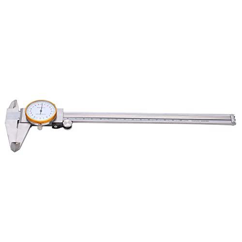 Calibrador a vernier, calibre de esfera de acero de alta precisión 0-200 mm Graduaciones transparentes resistentes a la corrosión para carpinteros para joyeros para bricolaje para
